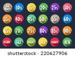 sale tag label sets | Shutterstock .eps vector #220627906