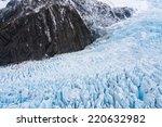 Aerial View Of Fox Glacier On...