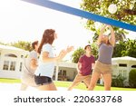 group of young friends playing... | Shutterstock . vector #220633768