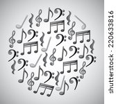 music graphic design   vector... | Shutterstock .eps vector #220633816