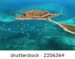 Dry Tortugas National Park in Florida. Fort Jefferson. - stock photo