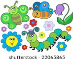 bug and flower set   vector... | Shutterstock .eps vector #22065865