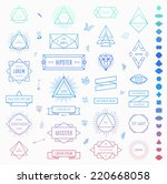 set of retro vintage insignias... | Shutterstock .eps vector #220668058