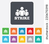 strike sign icon. group of... | Shutterstock .eps vector #220670398