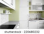 empty simplicity kitchen in...   Shutterstock . vector #220680232