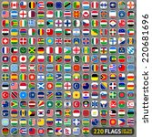 flags of the world  rounded... | Shutterstock .eps vector #220681696