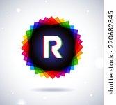 spectrum logo icon. letter r   Shutterstock .eps vector #220682845