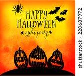 vector  happy halloween... | Shutterstock .eps vector #220687972