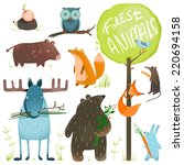 Cartoon Forest Animals Set....