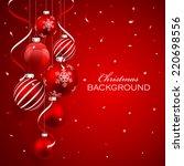 christmas balls | Shutterstock .eps vector #220698556