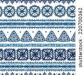 tribal art ethnic seamless... | Shutterstock . vector #220700362