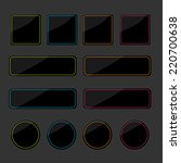set of black shiny web buttons... | Shutterstock . vector #220700638