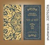wedding vintage invitation card ... | Shutterstock .eps vector #220701256