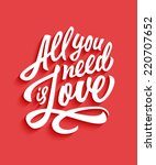 'all You Need Is Love'...