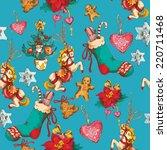 vintage merry christmas new... | Shutterstock .eps vector #220711468