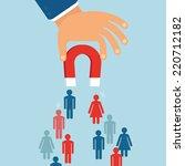 vector business concept in flat ... | Shutterstock .eps vector #220712182