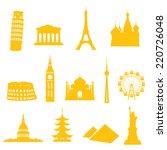 13 gradient free landmark icons ...