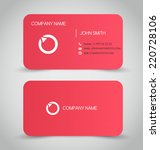 business card set template. red ... | Shutterstock .eps vector #220728106