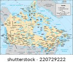 canada country map | Shutterstock .eps vector #220729222