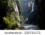 falls in the canyon  | Shutterstock . vector #220731172