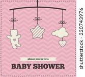 baby shower invitation ... | Shutterstock .eps vector #220743976