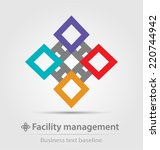 facility management business... | Shutterstock .eps vector #220744942