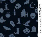 vector seamless halloween...   Shutterstock .eps vector #220746025