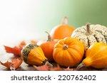 Decorative Mini Pumpkins On...