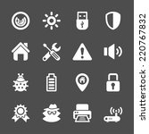 security icon set  vector eps10. | Shutterstock .eps vector #220767832