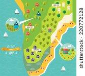 flat vector map design | Shutterstock .eps vector #220772128