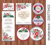 set of floral wedding cards... | Shutterstock .eps vector #220772422