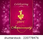 1 year anniversary celebration... | Shutterstock .eps vector #220778476