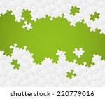 white puzzle pieces on color... | Shutterstock .eps vector #220779016