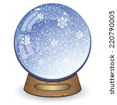 snow globe isolated on white... | Shutterstock .eps vector #220790005