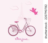 bonjour  hello  paris | Shutterstock .eps vector #220790782