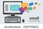 business computer with email...   Shutterstock .eps vector #220795822