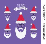 merry christmas vector with... | Shutterstock .eps vector #220815292