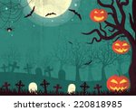 halloween time background... | Shutterstock . vector #220818985
