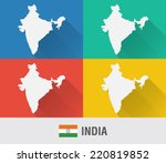india world map in flat style...