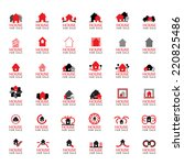 house for sale icons set  ...