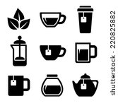 Stock vector tea icons set on white background vector 220825882
