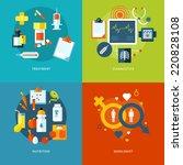 set of flat design concepts for ... | Shutterstock .eps vector #220828108