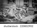 Statue Representing A Triton...