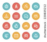 travel web icon set 3  color... | Shutterstock .eps vector #220835212