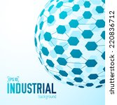 technical virtual technology...   Shutterstock .eps vector #220836712