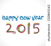 happy new year 2015 greeting...   Shutterstock .eps vector #220843162