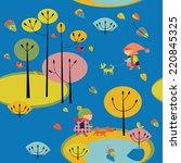seamless pattern with children... | Shutterstock .eps vector #220845325
