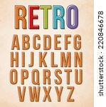 retro alphabet set | Shutterstock .eps vector #220846678