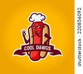 hotdog character logo template... | Shutterstock .eps vector #220856092