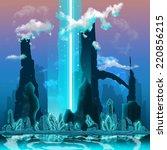 blue fantasy scenary